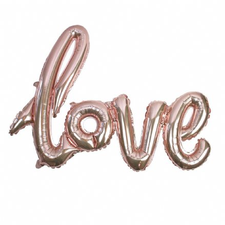 "Rose Gold ""LOVE"" Balloon"